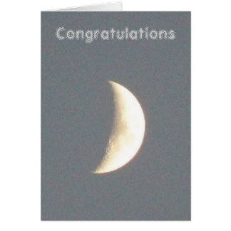 Moon Customizable Engagement Card