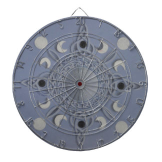 Moon cycle -celtic knot dartboards