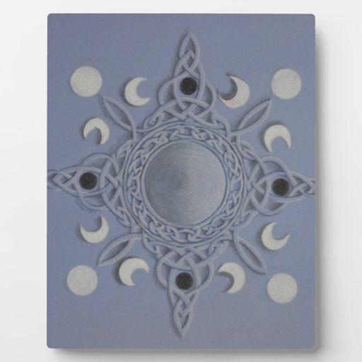 Moon cycle -celtic knot photo plaque