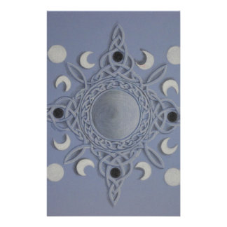 Moon cycle -celtic knot stationery