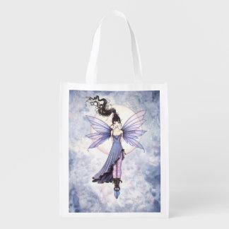Moon Dance Fairy Fantasy Art Reusable Grocery Bags
