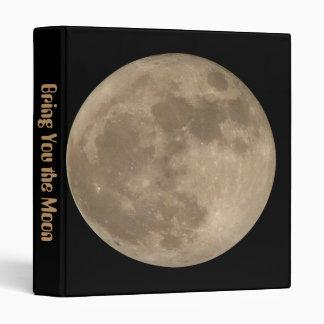 Moon Daytimer Full Moon Planner Custom Moon Gift Binder
