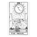 Moon de la carta de tarot ' papeleria personalizada