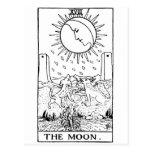 Moon de la carta de tarot ' postal