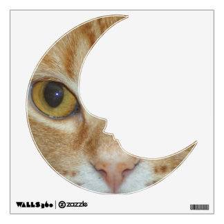 Moon Decal - Cat