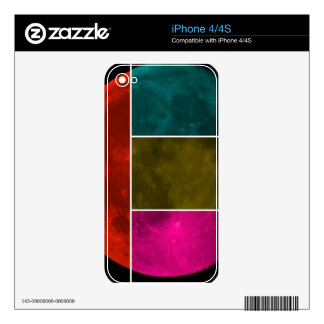 Moon Decal For iPhone 4
