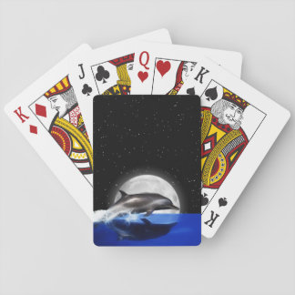 Moon Dolphin Playing Cards