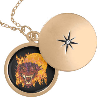 Moon Dragon Gold Plated Necklace