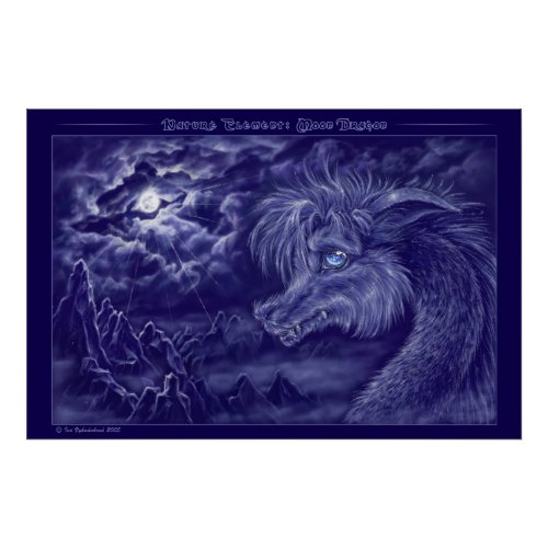 Moon Dragon print