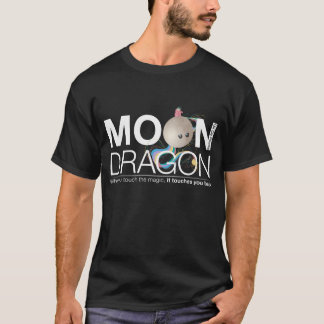 Moon Dragon Vneck for guys T-Shirt
