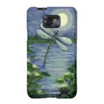 Moon Dragonfly Pond Waterlilies Art Phone Case Samsung Galaxy S Case