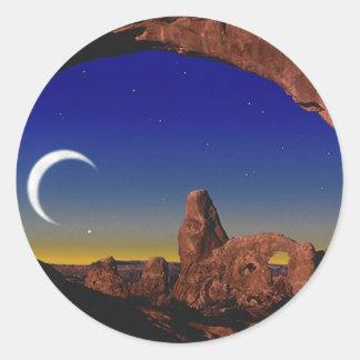 Moon Dream Classic Round Sticker