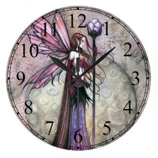 Moon Dream Fairy Fantay Art Clock