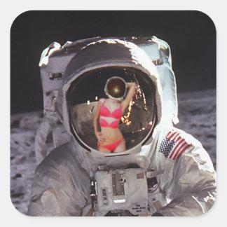 Moon Dream Or First Encounter Sticker