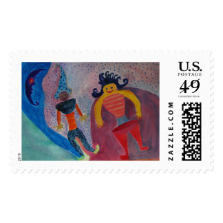 Moon Dreamers Postage Stamp