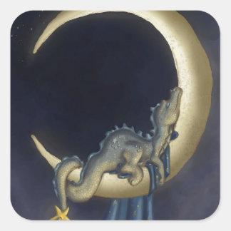 Moon Dreams Square Sticker