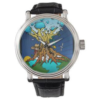 Moon Earth Celebration Time Machine Wristwatch