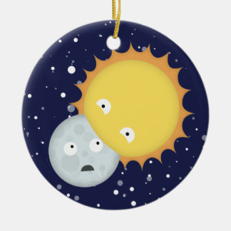 Moon Eater Ceramic Ornament