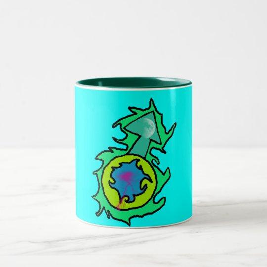 moon electric of men Two-Tone coffee mug