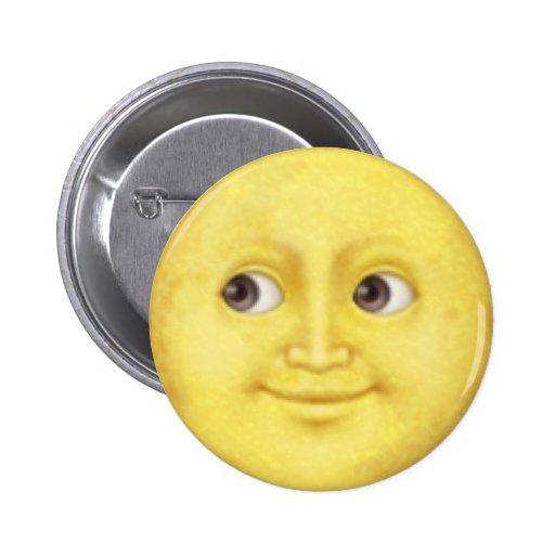 Moon Emoji 2 Inch Round Button