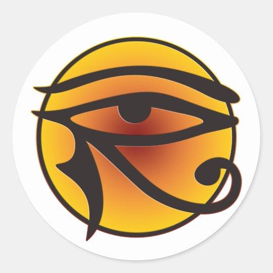 Moon Eye Of Horus Classic Round Sticker
