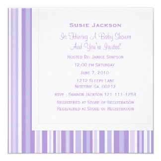 Moon Face Baby Shower Card