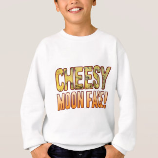 Moon Face Blue Cheesy Sweatshirt
