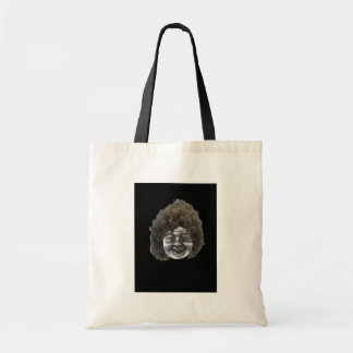 MOON FACE LADY BUDGET TOTE BAG