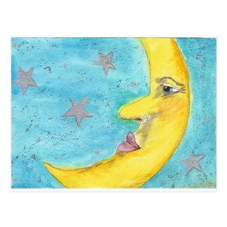 Moon Face Postcard