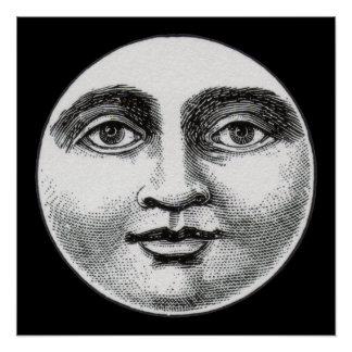 Moon Face Poster