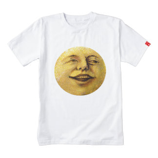 moon face sky night eyes vintage old laugh smile zazzle HEART T-Shirt