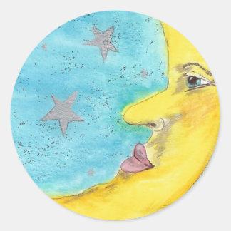 Moon Face Sticker