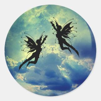 moon fairies classic round sticker