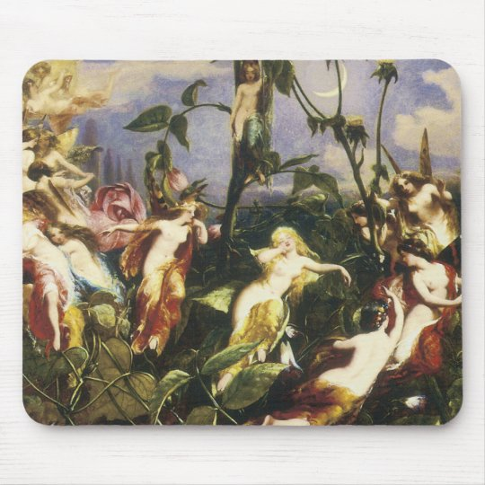 Moon Fairies Print by John George Nash Mouse Pad