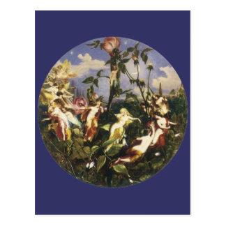 Moon Fairies Print by John George Nash Postcard