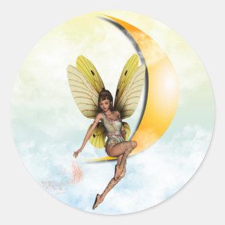 Moon Fairy Classic Round Sticker