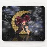 moon fairy mousepad, mouse mat, gothic fairy