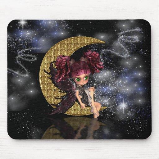 moon fairy mousepad, mouse mat, gothic fairy mouse pad