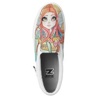 Moon Fairy Printed Slip On Shoes