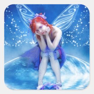 Moon Fairy Square Sticker
