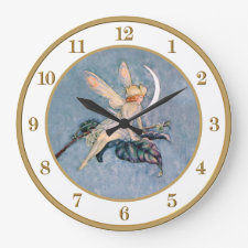 Moon Fairy Wall Clock