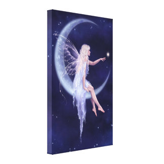 Moon Fairy Wrapped Canvas Print