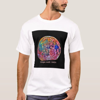 Moon - False Color - NASA - Galileo T-Shirt