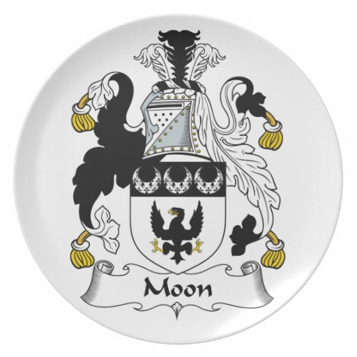Moon Family Crest Party Plate