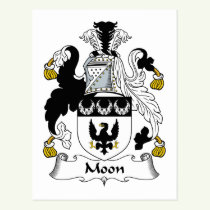 Moon Family Crest Postcard