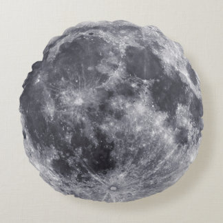 Moon - Farside Of Moon On Back Round Pillow