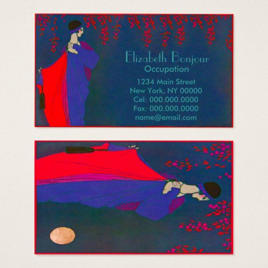 Moon Fashion Plate ~ Business Card