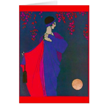 galleriaofart Moon Fashion Plate ~ Card