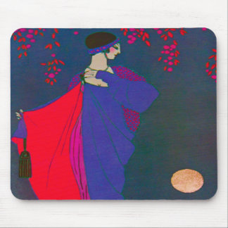 Moon Fashion Plate Mousepad Catalog Vintage