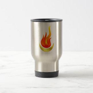 Moon Fleming flames moon Travel Mug